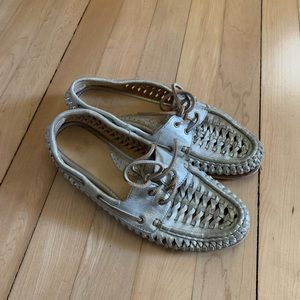 Frye Quincy Woven Braided Moccasin Boat Shoes